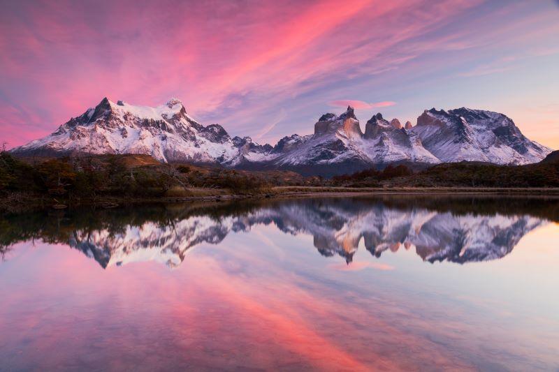 Specchio Patagonico Cileno all' alba