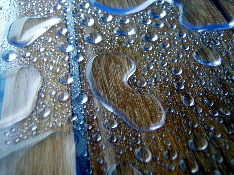 La forma dell'acqua dopo la pioggia
