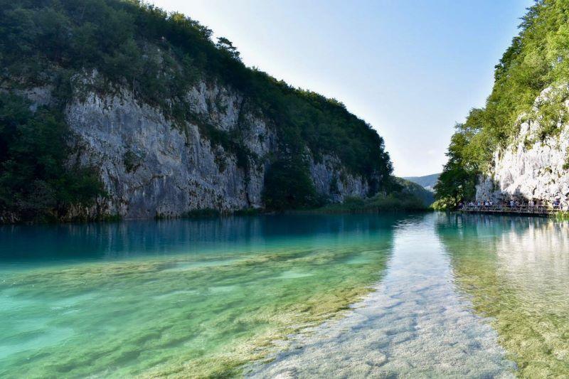 Gioco di colori ai laghi di Plitvice