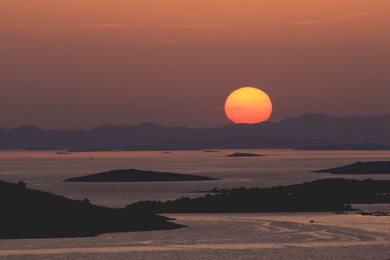Tramonto dalle isole Kornati (Croazia)