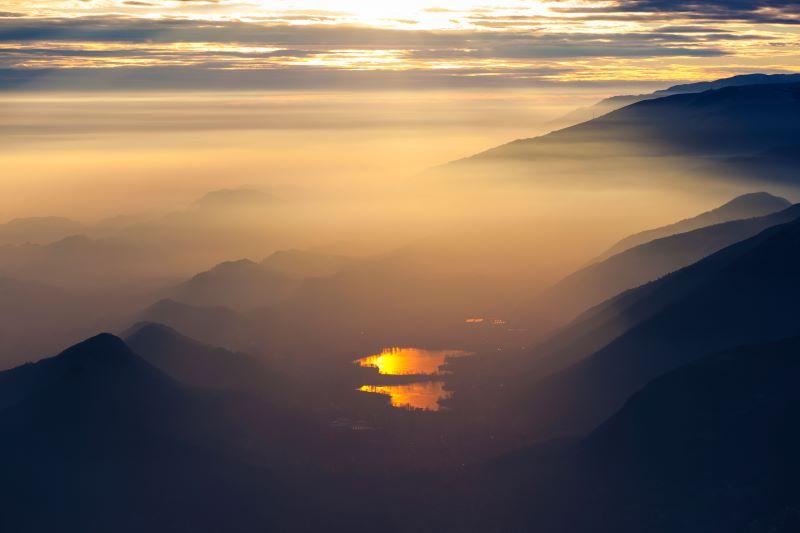 Laghi di Revine al tramonto
