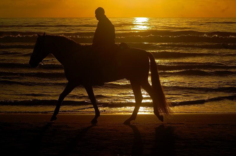 passeggio al tramonto