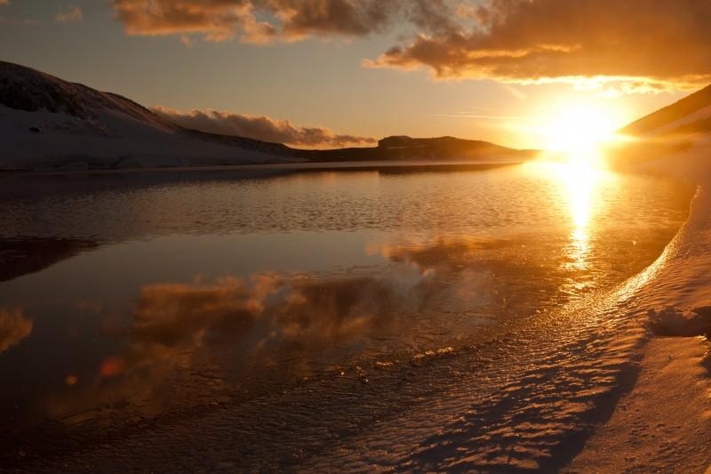 un bianco tramonto