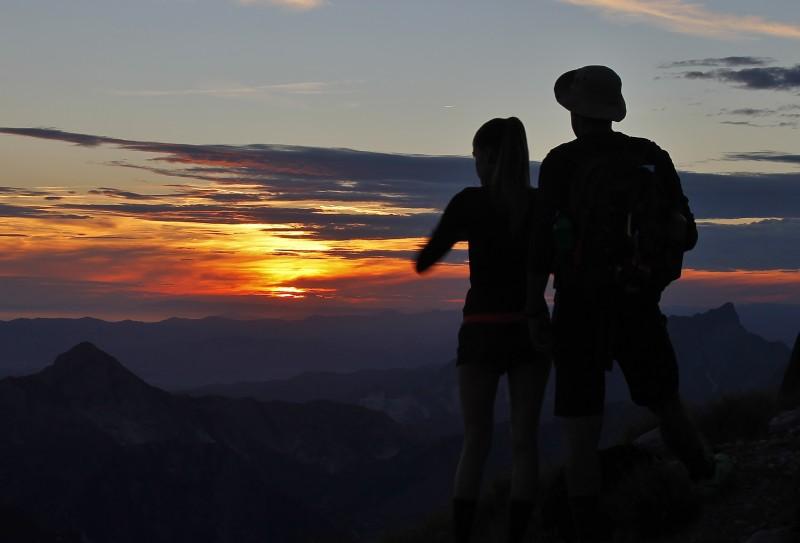 tramonto in pania