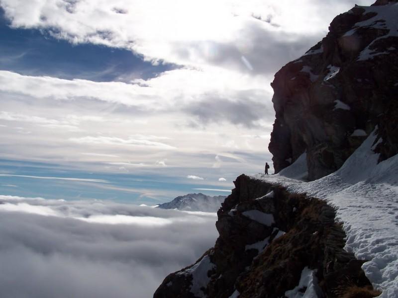 alba invernale al monte ciantiplagna - alpi cozie