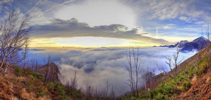 vedere oltre le nuvole