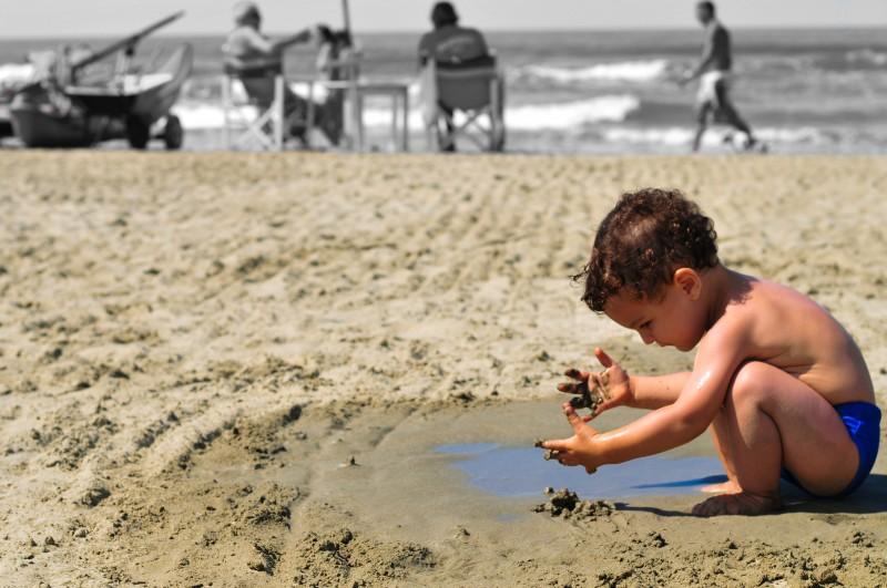 la sabbia tra le mani