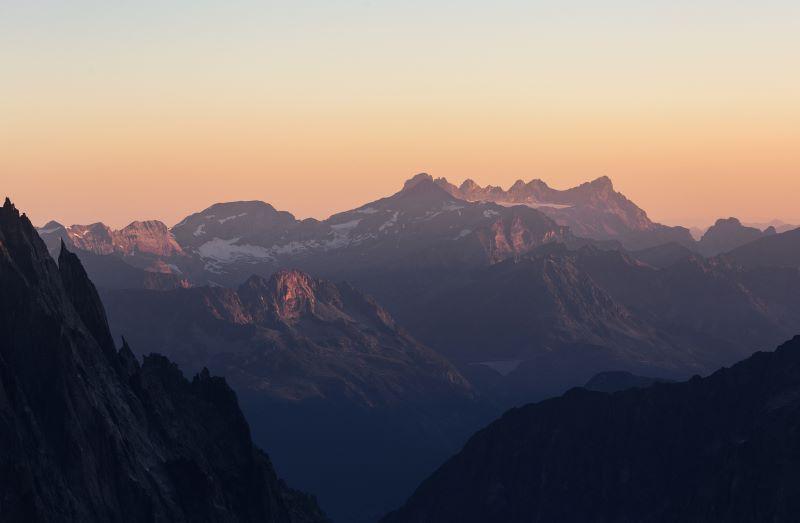 alpi valdostane dallo skyway monte bianco