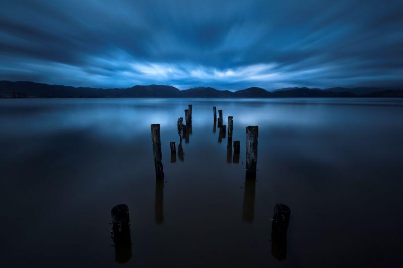 lago di massaciuccoli prima dell'alba