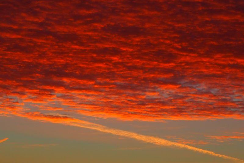Il mar rosso del cielo